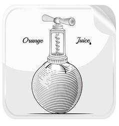 Orange juice label object vector