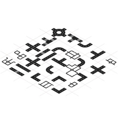Constructor roads in isometric view vector image