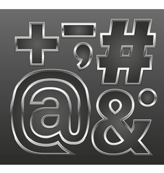 Metal letters big and small 12 vector