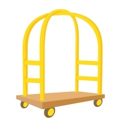 Cart in hotel icon cartoon style vector
