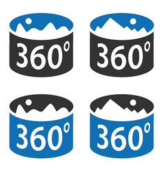 Angle 360 degrees panorama view symbol vector