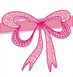 Deco pink bow vector