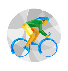 track cycling with abstract patterns vector image