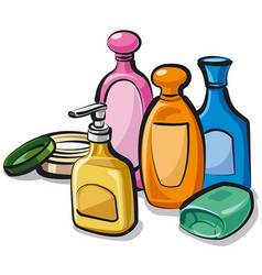 Collection shampoo and soap vector