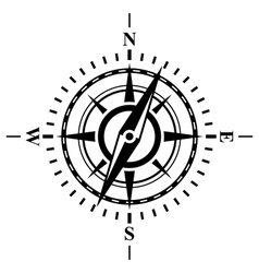 Compass with wind rose vector image