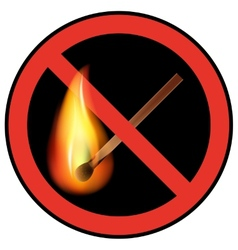 Sign ban open flames vector
