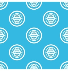 Global network sign blue pattern vector