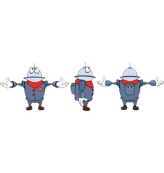 Cartoon character cute robot for computer game vector