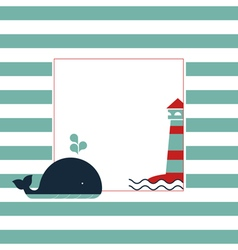 Maritime card vector image