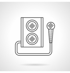 Microphone and subwoofer flat line icon vector