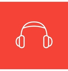 Headphone line icon vector