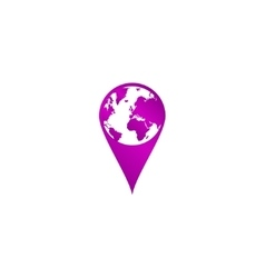 Pictograph of globe map pointer vector