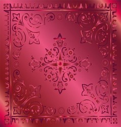 Beautiful vintage floral pink background vector