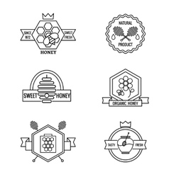 Beekeeping and apiculture badges labels vector