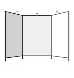 Blank exhibition stand vector image vector image
