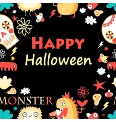 Bright color background with monsters vector