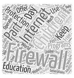 BWI about firewalls and free software Word Cloud vector image vector image
