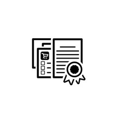 Certified shop icon flat design vector