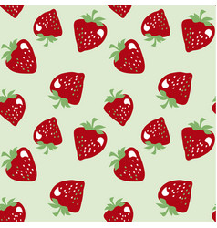 Classic strawberries seamless pattern vector