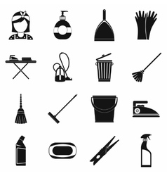 Cleaning simple icons vector