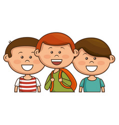 Cute little kids character vector