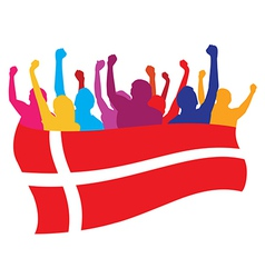 Denmark fans vector image