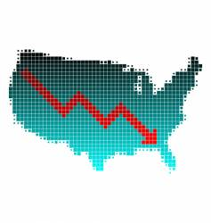 Depression in the united states vector