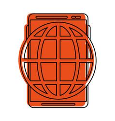 Earth globe diagram icon image vector