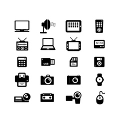 Electronic and accessories icon vector image vector image