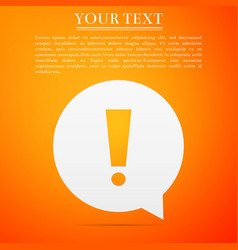 exclamation mark in circle hazard warning symbol vector image vector image