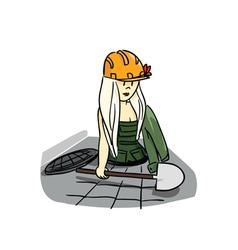 girl worker vector image vector image