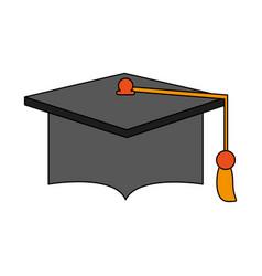 graduation hat education vector image vector image