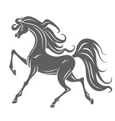 Gray horse silhouette vector