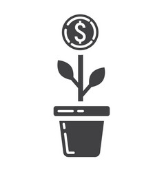 Investment growth glyph icon business and finance vector