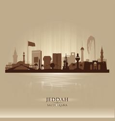 jeddah saudi arabia city skyline silhouette vector image