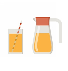 Juice jug and mug vector