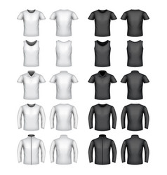 male t-shirts set vector image