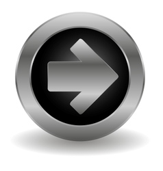 Metallic arrow button vector image vector image