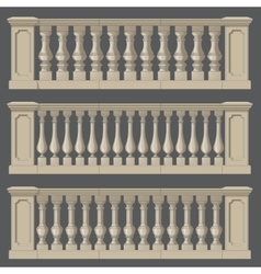 Outdoor and park elements balustrade set of vector