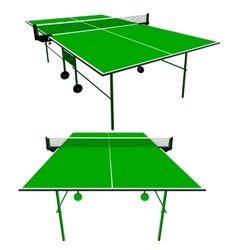 Ping pong green table tennis vector image