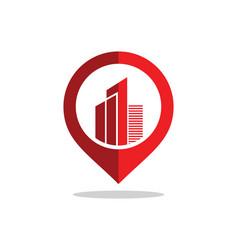 Position gps building town logo vector