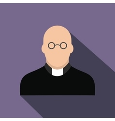 Priest flat icon vector
