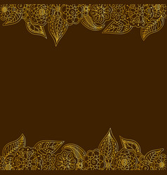 Seamless decorative border of gold floral elements vector