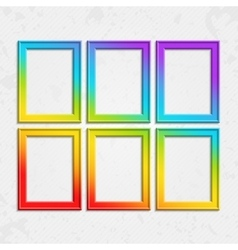 Set of frames rainbow vector image
