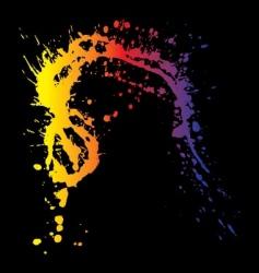splatter vector image