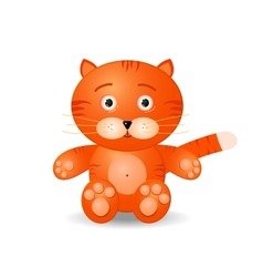 tiget toy icon vector image vector image
