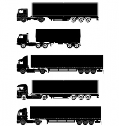 trucks silhouettes vector image vector image