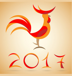 Year of a rooster vector