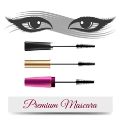 Eyes mascara smear and banner vector