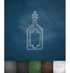 Bottle icon hand drawn vector